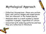 mythological approach27