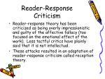 reader response criticism11