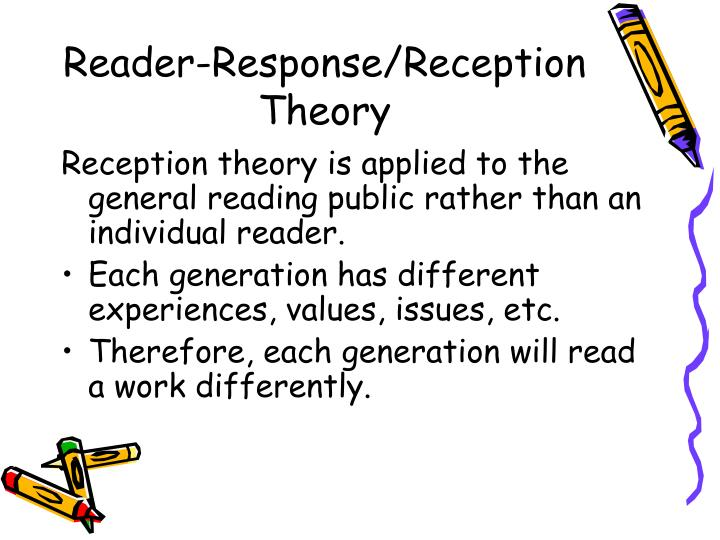 reader response theory The main argument of reader-response theory is that readers, as much as the text , play an active role in a reading experience (rosenblatt,.
