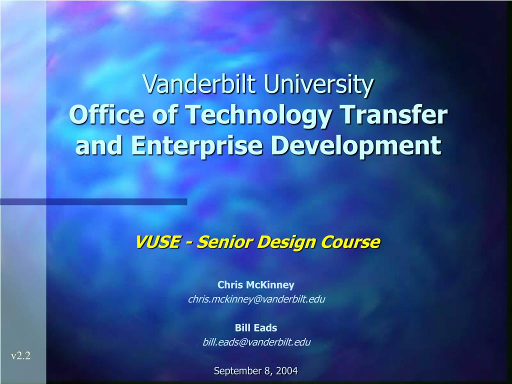 vanderbilt university office of technology transfer and enterprise development l.
