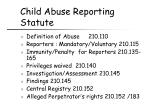 child abuse reporting statute