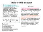 thalidomide disaster
