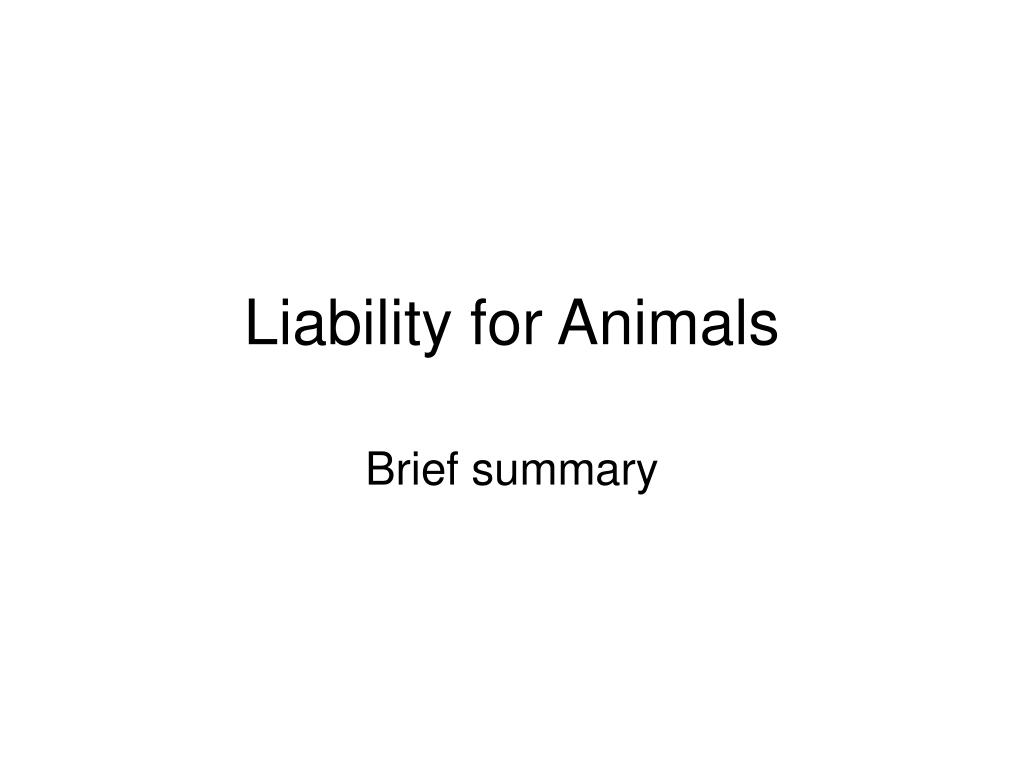 liability for animals l.