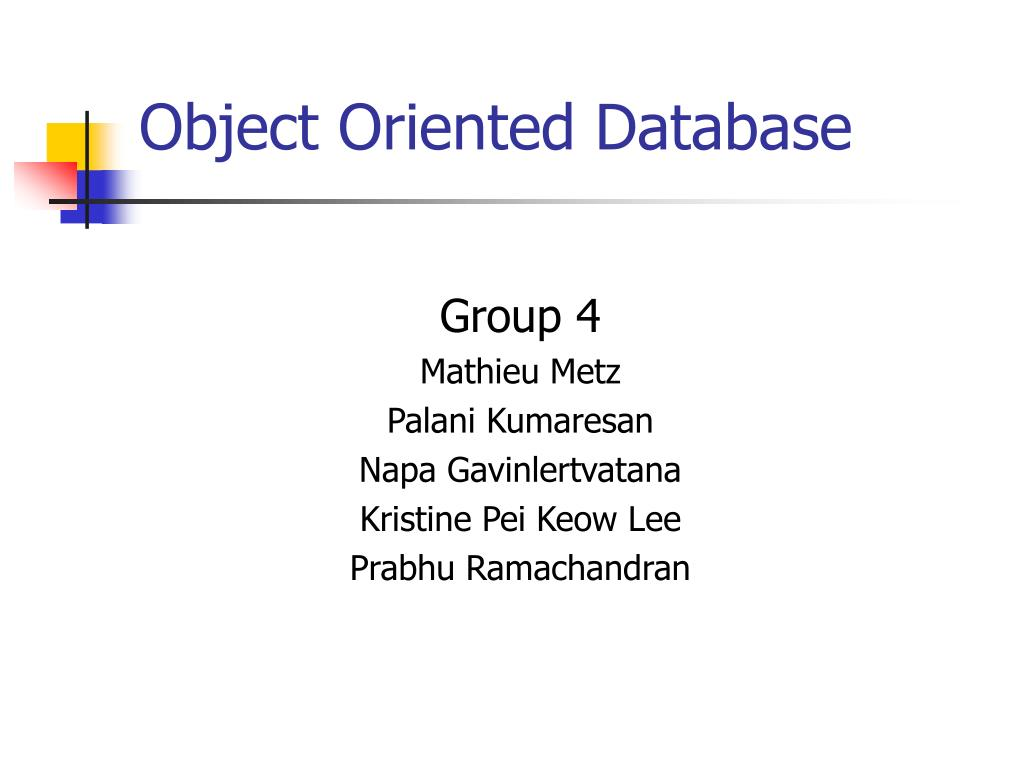 object oriented database l.