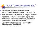 sql3 object oriented sql