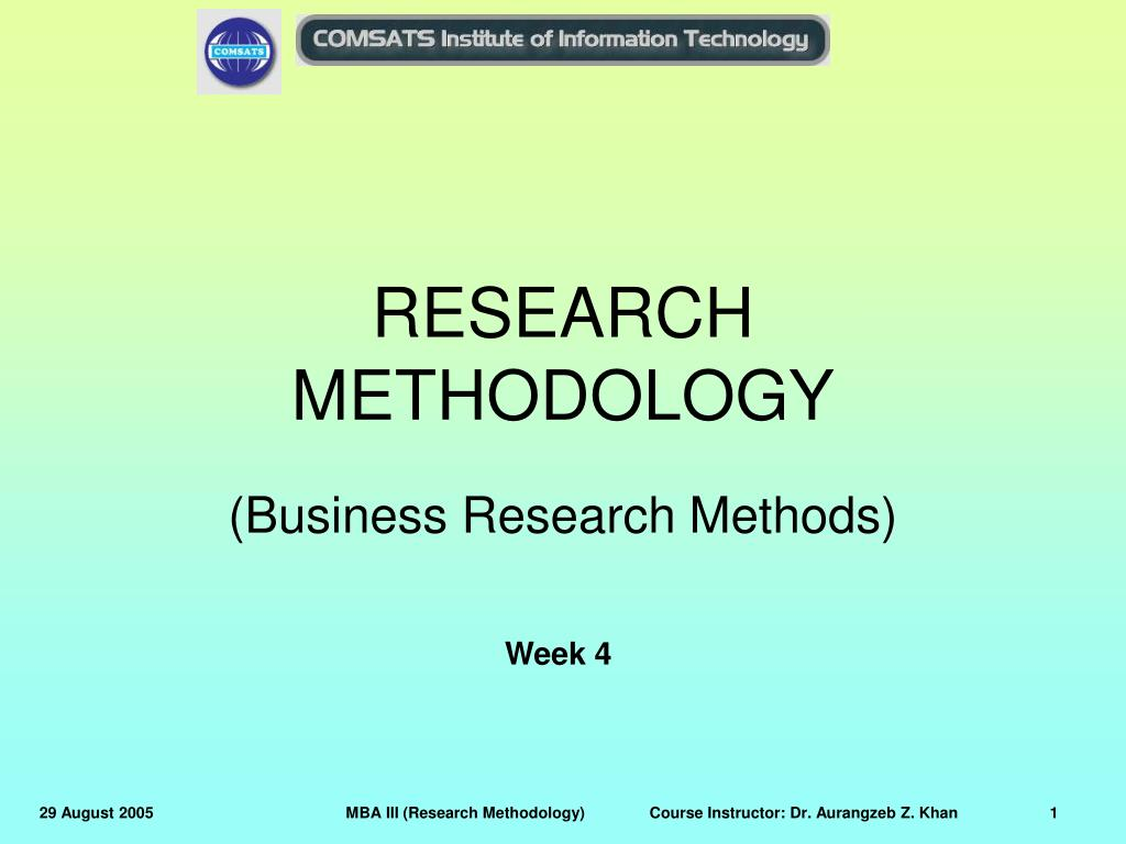 research methodology l.