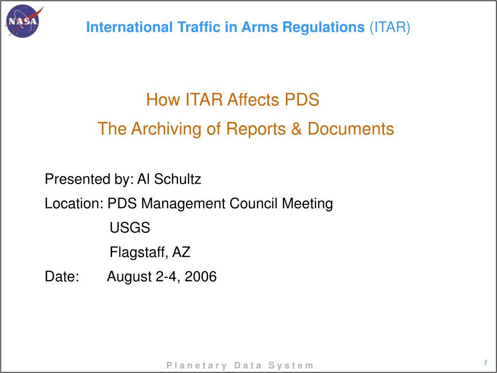 international traffic in arms regulations itar l.