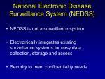 national electronic disease surveillance system nedss