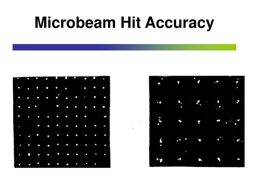 Microbeam Hit Accuracy