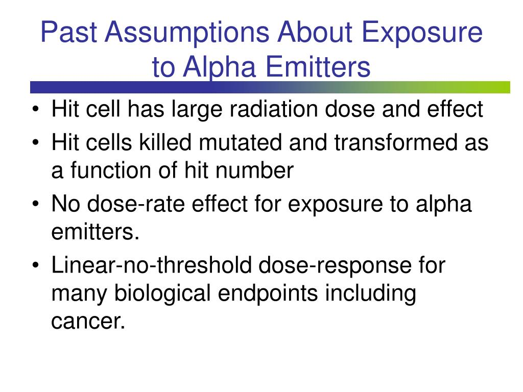 Past Assumptions About Exposure to Alpha Emitters