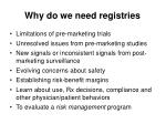 why do we need registries