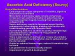 ascorbic acid deficiency scurvy
