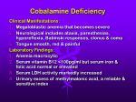 cobalamine deficiency