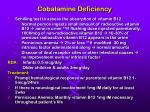 cobalamine deficiency46