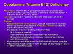 cobalamine vitamin b12 deficiency