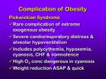 complication of obesity
