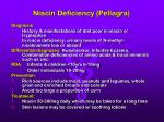 niacin deficiency pellagra