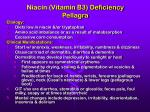 niacin vitamin b3 deficiency pellagra