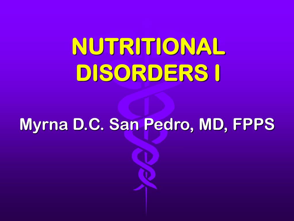 nutritional disorders i l.