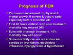 prognosis of pem