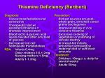 thiamine deficiency beriberi28