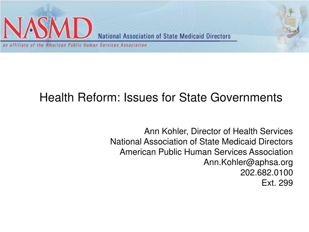 health reform issues for state governments l.