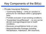 key components of the bill s