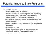 potential impact to state programs9