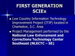 first generation sciex