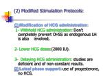 2 modified stimulation protocols22