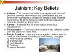 jainism key beliefs