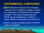 experimental compounds