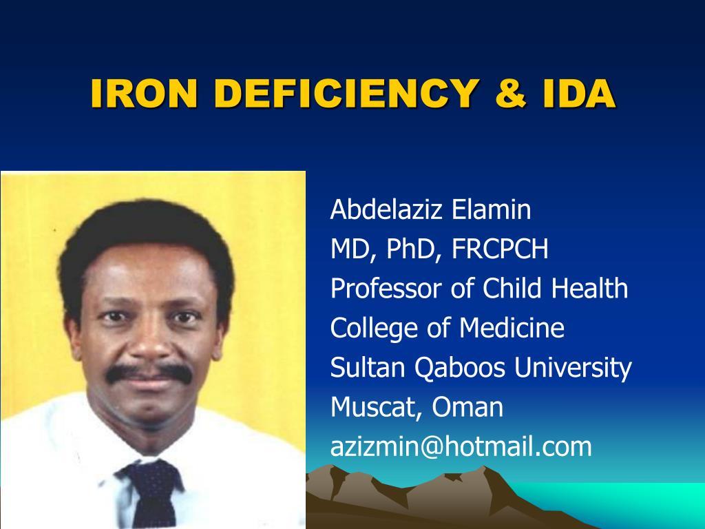 iron deficiency ida l.