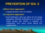 prevention of ida 3