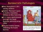 bureaucratic pathologies