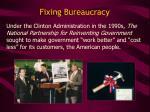 fixing bureaucracy