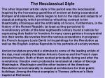 the neoclassical style