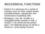 biochemical functions