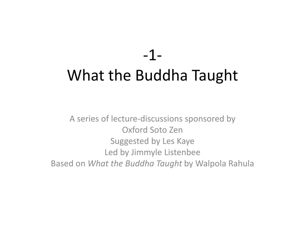 1 what the buddha taught l.