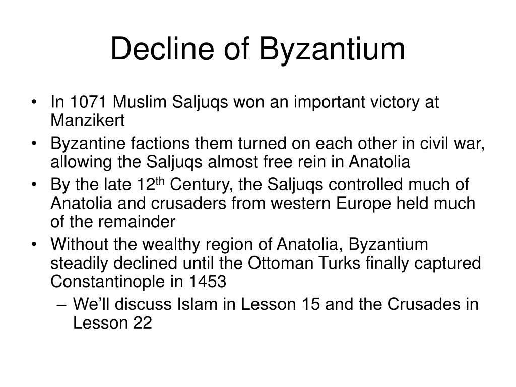 Decline of Byzantium