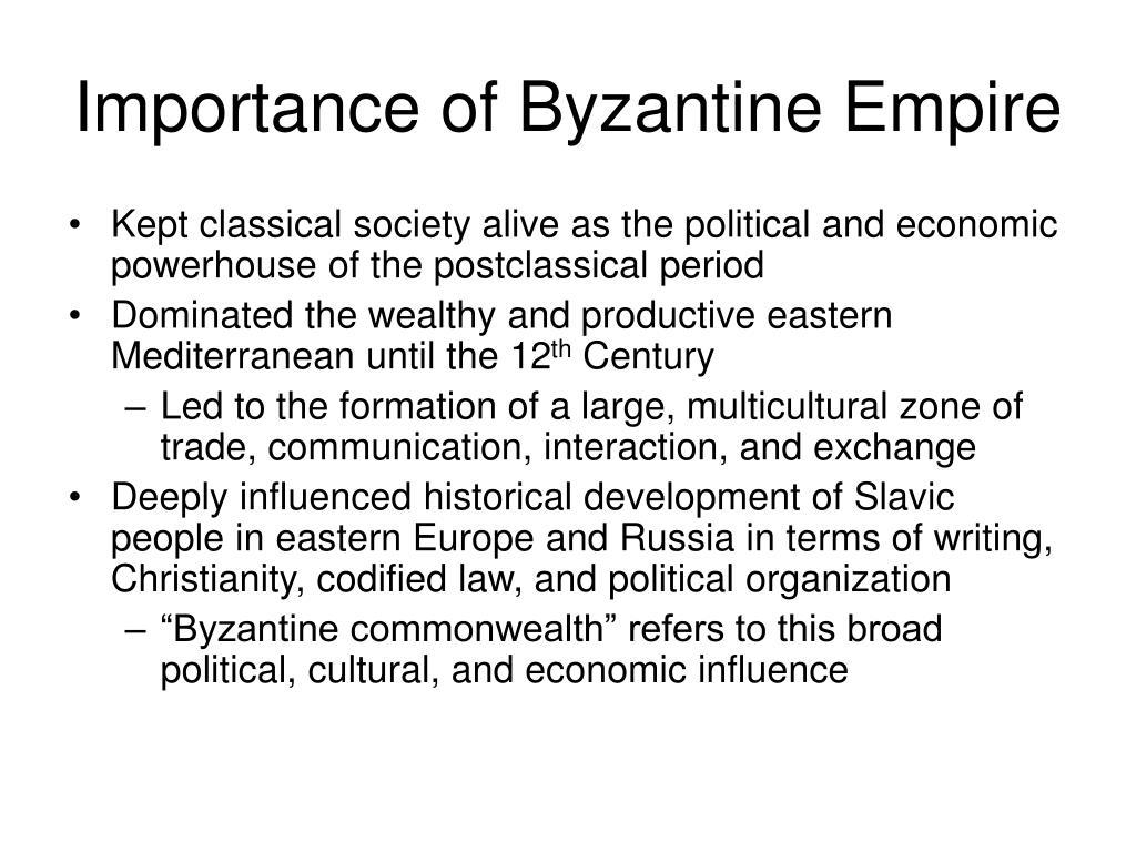 Importance of Byzantine Empire