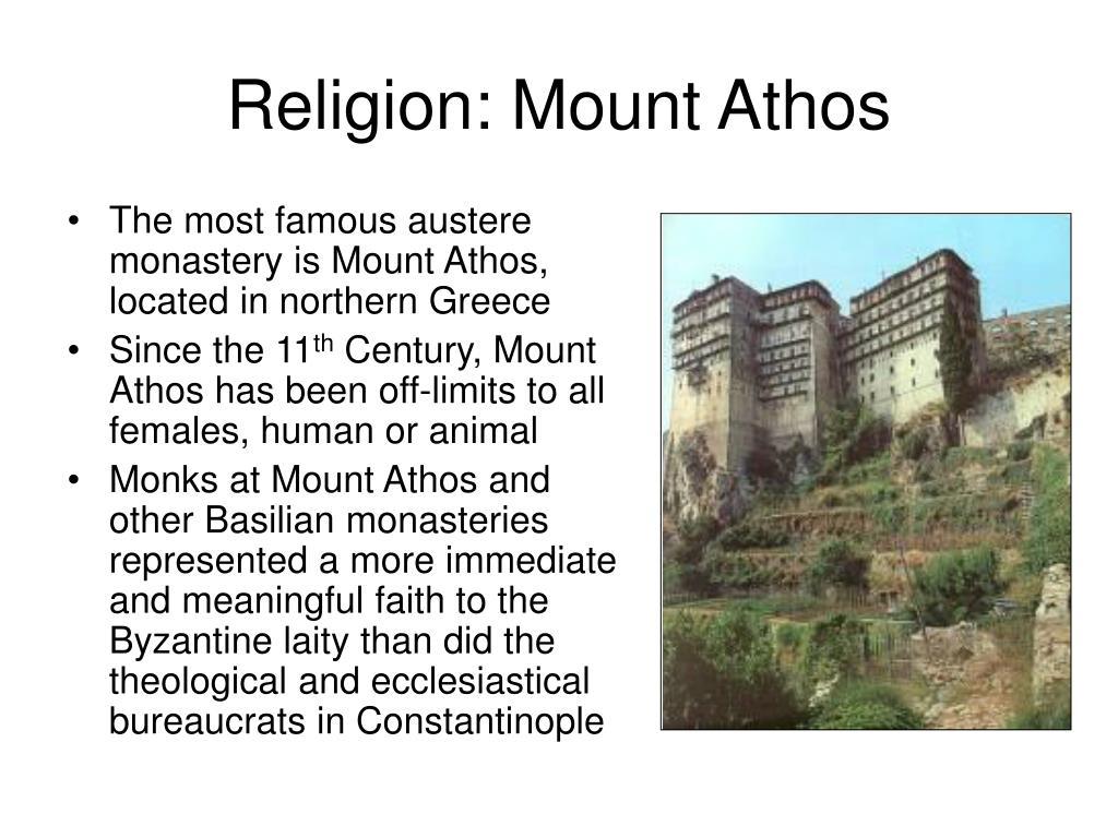 Religion: Mount Athos