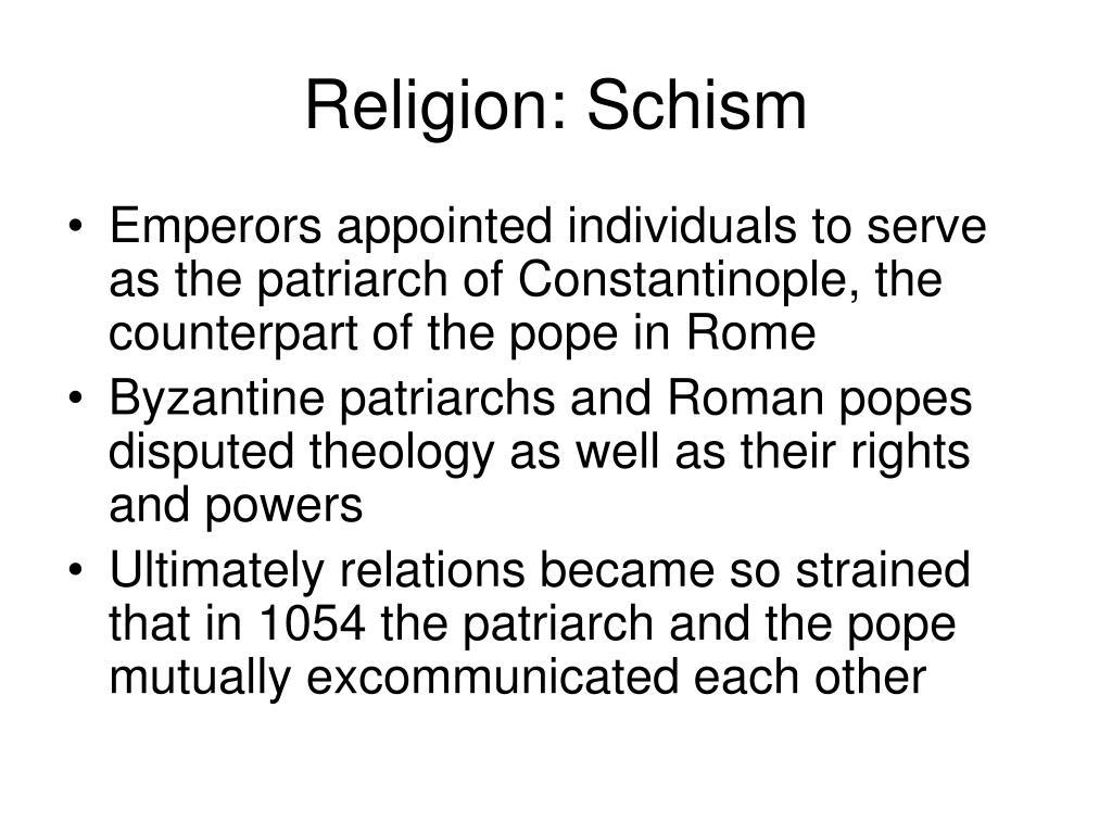 Religion: Schism