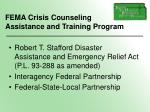 fema crisis counseling assistance and training program