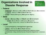 organizations involved in disaster response