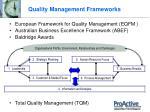 quality management frameworks
