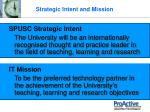 strategic intent and mission