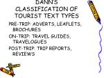 dann s classification of tourist text types