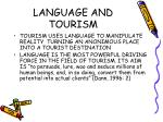 language and tourism
