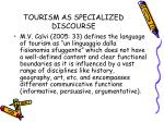 tourism as specialized discourse6